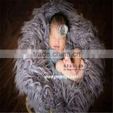 Baby faux fur rug Newborn faux fur fabric Baby fur rug photography props Newborn blanket backdrop photo props