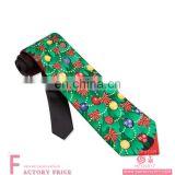Decorated Christmas Trees,Bell and Bow-tie Christmas Tie for Party