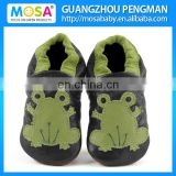 Baby Boy's Genuine Leather Soft Sole Frog Pattern Shoes