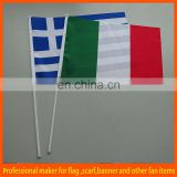 polyester green white red cheap hand waving flags