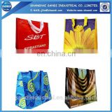 promotional LOGO printed plastic PP woven shopping bag