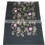 three Anacardium occidentale embroider scarf 170*68cm lady's scarf woman shawl