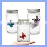 Sound Activated Animated Electronic Senor Monarch Butterfly Jar