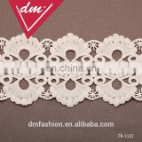 Nice 4.5cm grace White Leaves embroidery lace trim