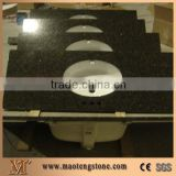 Shanxi Black Granite Bathroom Vanity Top,China Absolute Black Granite Vanity Top,China Black Granite Countertop