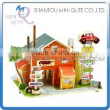 Mini Qute 3D Wooden Puzzle American Motel architecture famous building Adult kids model educational toy gift NO.F136
