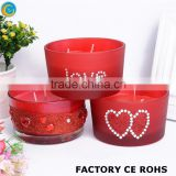 online wedding glitted love glass candle jars / hurricane candle holders candelbra                                                                         Quality Choice