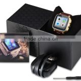 2015 OEM Watch Mobile Phone with 5MP camera and leather band