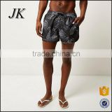 High quality 100% microfiber twill polyester sexy men's swiming trunks &beach shorts