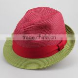 Wholesale fedora hat In stock European Style short Brim Unisex 100% polyester cheap Fedora felt Hats 4colors Free size