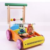 new style quality wood baby walker, musical baby walker