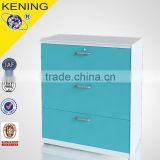 Metal material 3 drawers lateral filing cabinet
