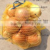 45x75cm yellow mesh bags for packing onion