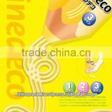 """Line Deco"" Flexible plastic pencil shaped laminating pouch for mustard ketchup mayonnaise use"