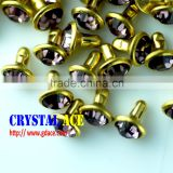 2016 Good quality and wholesale price Fancy acrylic rhinestone rivet ,cap brass acrylic rivet