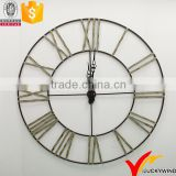 New Design Decorate Roman Numeral Large Round Metal Wall Clock