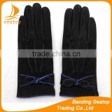 pig suede genuine leather glove women cheap gloves
