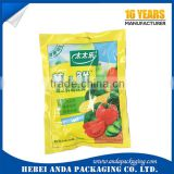 3 Side Seal Flexible Food Packaging bag/condiment plastic sachet/nuts three side sealed zipper pouch