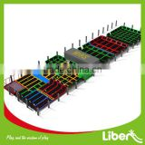 Safety huge indoor trampolines park with ball pool,foam pit LE.T3.406.132.01