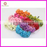 2.5cm head Multicolor reel edge glitter Paper rose Flower Bouquet Scrapbooking artificial rose flowers(144pcs