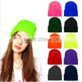 Multi-colors Plain Beanie Knit Ski Cap Skull Hat Warm Solid Warm Cuff Blank Beany