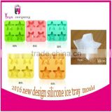 2016 hot sale gift silicone snowflake ice cube tray