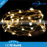 6v micro string lights battery operated led copper wire fairy light waterproof led mini copper wire string