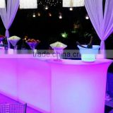 Counter plastic light up led light bar table/ change color bar table led                                                                                                         Supplier's Choice