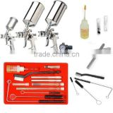 Professional HVLP Paint Gun Set PLUS 23pc Spray Cleaning Kit Gravity                                                                         Quality Choice