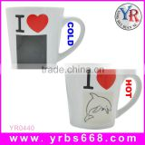 Printing logo amazing color change mug gifts corporate gift trophy memento/corporate gift set