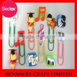 Factory price custom logo soft PVC decorative paper clip