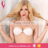 Customized Low Price Seamless Adult Women Invisible Adhesive Silicone Lace Thin Bra