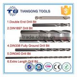 DIN338/DIN340/DIN1897/DIN1869/ASME/Extra Length fully ground straight shank metal twist drill bits