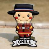 Chile Boy TOURIST SOUVENIR Rubber FRIDGE MAGNET,Free shipping magnet refrigerator door gasket ---DH20727