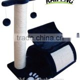 Zhejiang Huzhou Anji Kaifeng small wood and sisal Cat Tree ,cat Scratcher Post ,cat climbing frame,cat climber