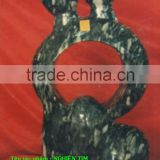 Man Woman Statue Abstract Art Black Marble Hand Carving Sculpture For Garden, Home, Street, Decoration And Restaurant