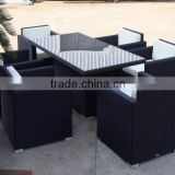Outdoor Furniture Black Hotsale Wicker Dining Table Set FCO-073
