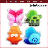 smal bead ice pack for child butterfly tortoise snail cute animal shape gel bead ice pack