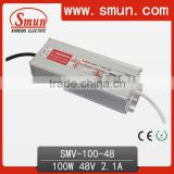 100W 48V LED Driver Water-proof Power Supply SMV-100-48