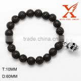 Latest Man Wholesale African Beads Jewelry with Stainless Steel Skull Bead                                                                         Quality Choice
