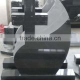 Chinese granite European style black cross granite tombstone
