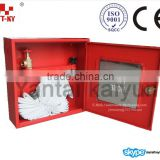 Steel Fire Hose Rack Cabinet with Canvas Hose