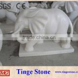 Elephant statues white marble outdoor decoration