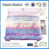 Promotional flower printed flannel fleece and coral fleece blanket with cheap price