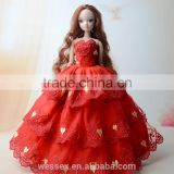 Red doll dress/baby doll dress/beautiful barbie girl dress