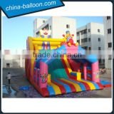 giant inflatable clown slide/ colorful super slide bouncer for fun city