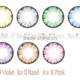 wholesale ice blue colored contact lens crystal soft colored contact lens