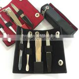 Stainless Steel Manicure Pedicure Set Nail-Clippers Cleaner Cuticle Grooming Kit Case 4 in 1
