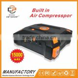 Portable jump starter power bank 12v multi-function auto emergency start power with compressor