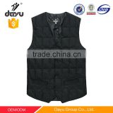 Latest design V-neck warm waistcoat duck down padded vest quilted men's casual winter vest